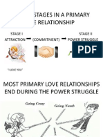 Natural Stages in a Primary Love Relationship