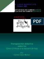 Las cinco críticas a la escuela de hoy de Carlos Calvo Muñoz.