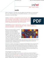 Community Work - A Review of Its Development and the Curent State of Thinking and Practice