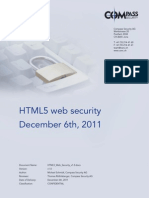 HTML 5 Web Security