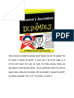 Obama's Socialism for Dummies