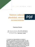 Matrices culturales