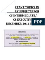 56679 882530 Important Topics for Cs Executive December 2011 Exams