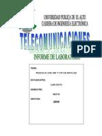 Modulacion en Am y Fm en Matlab Telecomunicaciones