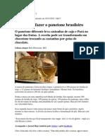 Receita de Panetonne