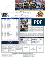 Week 17 Rams vs. 49ers