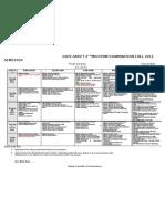 2nd Midterm Date Sheet