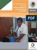 Programa de Acción SICALIDAD 2007-2012