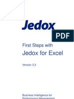 First Steps With Jedox for Excel