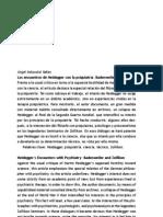 Ángel Xolocotzi Yañez Los encuentro de heidegguer con la psiquiatria