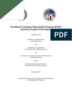 BTOP Quarterly Congressional Report - 12-2011