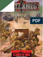 FW301 Flames of War - Blitzkrieg