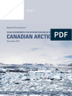 Filing Requirements for Offshore Drilling in the Canadian Arctic