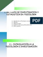 MÉTODOS DE INVESTIGACIÓN Y ESTADÍSTICA EN PSICOLOGÍA