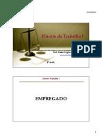 4ª aula _Dir Trab I_ EMPREGADO 2 slides