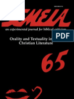 Semeia 65, Orality and Textuality in Early Christian Literature