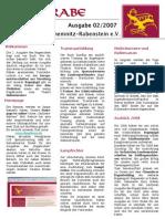 Bogenrabe Clubmagazin Ausgabe 02 / 2007