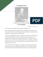 Telemann Autobiography Ehren-Pforte (Hamburg 1740) Mattheson