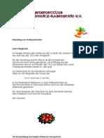 Einladung zur Weihnachtsfeier 2010