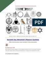 Seventh Day Adventist's Masonic Symbols