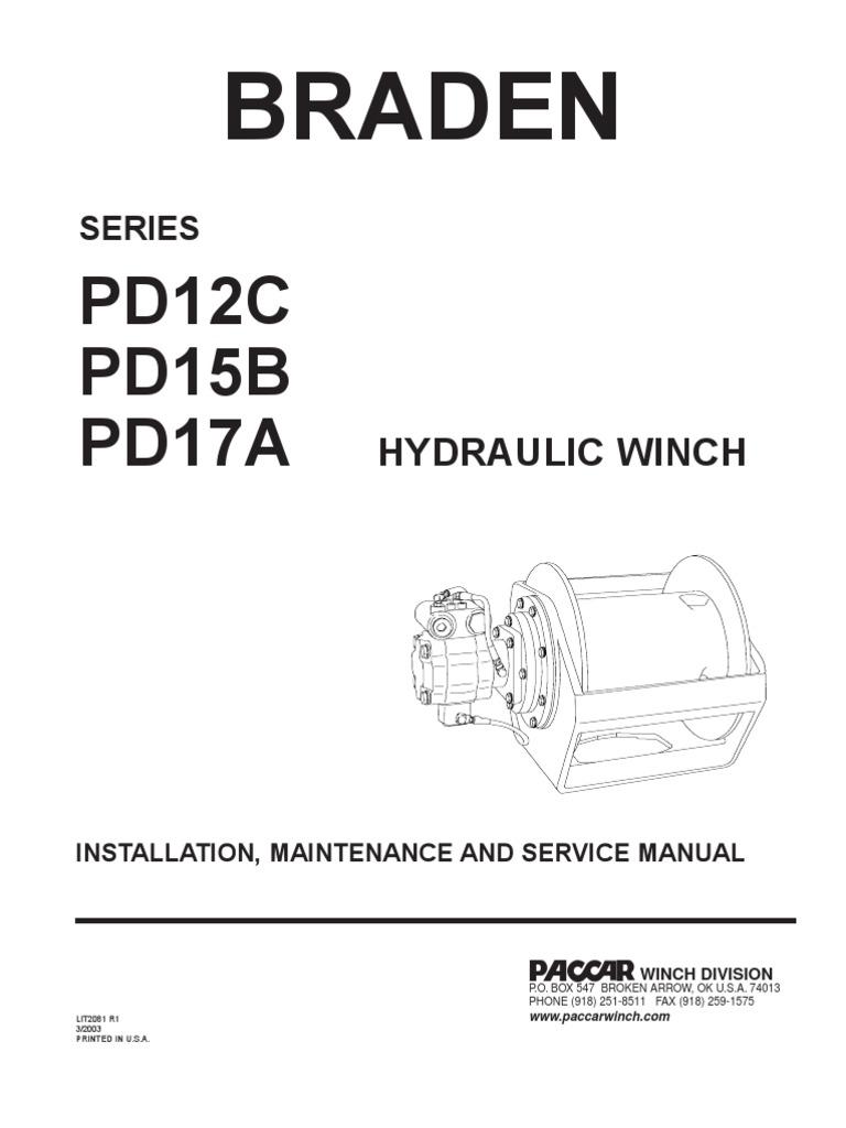 Installation, Maintenaince and Service Braden PD15B,PD12C,PD17A | Brake |  ValveScribd