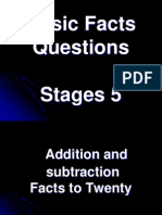 Basic Facts Questions Stage 5