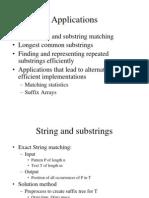 Suffix Tree Applications