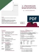 Ausschreibung zum Chemnitzer Bogenfühling 2012