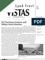 Fall 2005 Vistas Newsletter, Solano Land Trust