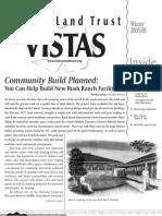 Winter 2005 - 2006 Vistas Newsletter, Solano Land Trust