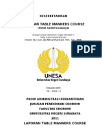 Laporan Table Manner Course
