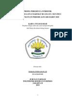 PROFIL PERESEPAN ANTIBIOTIK DI INSTALASI GAWAT DARURAT RUANG ICU, NICU/PICU RSUP FATMAWATI PERIODE JANUARI-MARET 2010