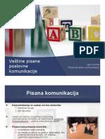 Razvijanje Vestine Pisane Poslovne Komunikacije - PREZENTACIJA