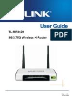 TL-MR3420 User Guide