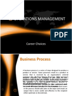 Operations Managment-career Choices