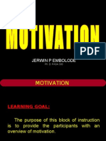 Motivation - PhD PASA 303