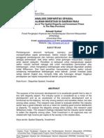 Analisis as Spasial Dan Aliran Investasi Di Daerah Riau
