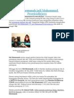 Siti Maemunah jadi Muhammad Prawiradirjoyo