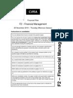 F2 Nov 2010 Exam Paper