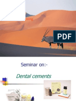 Seminar on Dental Cements