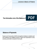 VIII. Balance of Payments