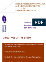 Study of Consumer Prefference Towards Cadbury and Nestle