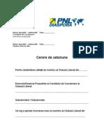 Cerere adeziune + CV (PNL Diaspora)