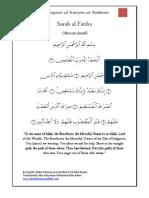Tafsir Surah Al Fatiha - Tayseer al-Kareem ar-Rahman  - Tafseer Imam as-Sadi