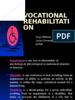 Vocational Rehabilitation