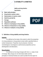Drug Stability and Kinetics