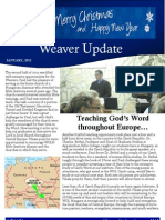 Weaver Prayer Letter January 2012