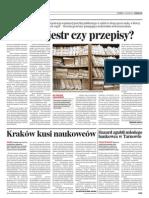 """""""Chory rejestr czy przepisy?"""" Dziennik Polski (27.12.2011)"""