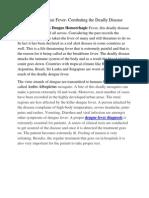 Diagnosis of Dengue Fever