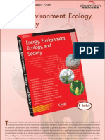 Energy, Environment, Ecology, And Society